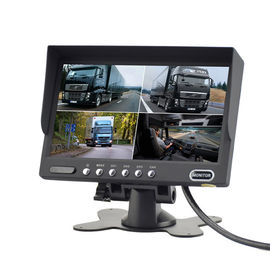 Quad Monitoring 7 Inch BUS Camera System With 4 Video Input 172*115*22mm