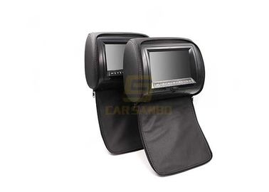 China 9 inch Car headrest DVD Player With zipper / Black Color Built - in USB Port , SD Slot factory