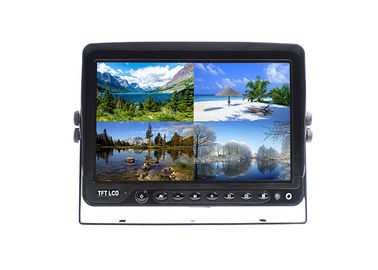 Quad Monitor 9 Inch With Recorder Function With 4 - Pin Connector And 4 Way Video Input