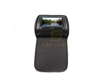 China Av 9 inch Car Headrest Dvd Player With Zipper , Support Romete Control With Zipper Cover factory