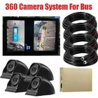 3D 1080P 360 Degree Bird View System For Bus And Truck / 360 Surround View System For Bus