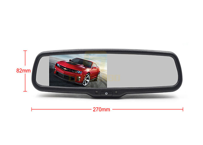 1080P 4.3 Inch Car Rearview Mirror Monitors OEM With Auto Brightness Change